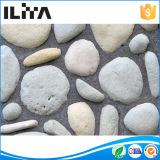 La pared de piedra de la chapa embaldosa la piedra artificial de las rocas del río (YLD-40015)