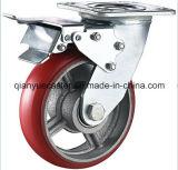 Örtlich festgelegte/Swivel PU auf Cast Iron Schwer-Aufgabe Caster Wheel