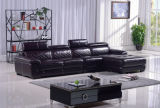 Sofá moderno de Sectional do sofá de Leather com L Shape