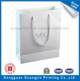 Хозяйственная сумка белой бумаги высокого качества с золотистым логосом