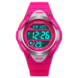 Kind-Uhr-nette Kind-Uhr-Sport-Karikatur-Uhr für Armbanduhren Reloj der Mädchen-Jungen-Gummikinder Digital-LED