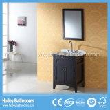 Vanidad moderna clásica vendedora caliente del cuarto de baño de madera sólida con los pies del metal (BV175W)