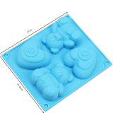 4 zelfs het Silicone Bakeware van de Vorm van de Liefde Bear&