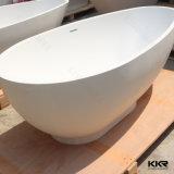 Witte vaste oppervlakte sanitair vrijstaande badkuip