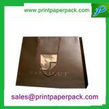 Подгонянный мешок ручки веревочки косметической печати логоса смещенный