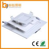 garantie (SMD2835, 2700-6500K, 3years) de DEL de panneau de plafond de lumière ronde et carrée de 12W
