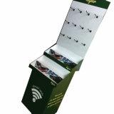 Soportes de visualización colgantes de la tarjeta del Colocar-Papel de la visualización de la cartulina con los ganchos de leva