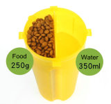 Еда портативного любимчика перемещая и бутылка воды с складывая шаром