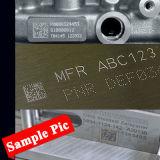 平らな回転式金属のカードの点のマーキング機械を刻む金属