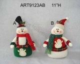 """"""" décoration Santa de Noël de H 16 et bonhomme de neige avec Sign-3asst"""