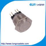 金属のLEDが付いている産業押しボタンスイッチ、電気マイクロスイッチ