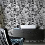 Papel de parede da sala de visitas 3D da decoração da HOME do projeto da pedra do rio