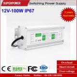 Alimentazione elettrica impermeabile costante di commutazione di tensione 12V 100W LED IP67