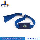 Wristband trenzado modificado para requisitos particulares de la pantalla de seda RFID para almacenar