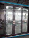 Древесина нового продукта Woodwin и алюминиевая составная раздвижная дверь