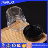 10g黒いふたが付いているプラスチック明確で緩いパウダーコンパクトの瓶