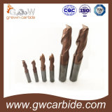 2/3/4 de moinho de extremidade do carboneto cimentado das flautas para o alumínio