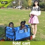 Carro de jardim de serviço público de dobramento da compra da bagagem do vagão de praia