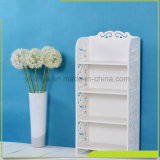 White Four Layers Small Book Shelf, semblable au matériel en bois en plastique