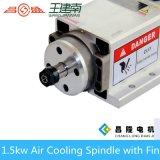Motore 1.5kw 18000rpm dell'asse di rotazione raffreddato aria elettrica con l'installazione della flangia per la macchina del router di CNC dell'incisione del legno