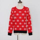 ジャカードデザインおよびビスコースナイロン品質柔らかいHandfeelのLadeisのセーターのクリスマスのギフト