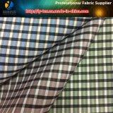 Materia de efectivo, tela teñida yarda de la verificación del poliester para la ropa (X121-123)