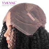Yvonne 180% 조밀도 아프로 꼬부라진 브라질 레이스 정면 가발
