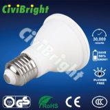 Las luces LED nueva fábrica directa LED blanco cálido PAR20-7W E27