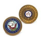 Moneta in lega di zinco del premio dell'esercito della polizia dello smalto 3D