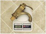 Rétro tarauds de mélangeur chauds et froids en laiton de lavabo