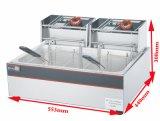 세륨 승인되는 최신 판매 전기 1 탱크 2 바구니 깊은 프라이팬