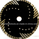 het Turbo Gesegmenteerde Blad van 230mm met het bescherming-Rondschrijven van de Kapsnede Bladen