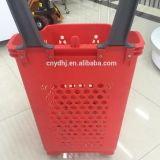 Vier Rad-Supermarkt-Plastikkorb