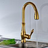 Torneiras sanitárias do Faucet do ouro do banheiro dos mercadorias