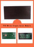 Único indicador ao ar livre do texto da tela do módulo do diodo emissor de luz do branco P10
