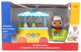 아이 플라스틱 교육 다채로운 아이스크림 손수레 아기 장난감