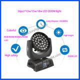 Indicatore luminoso mobile della lavata della testa 36PCS*12W del LED