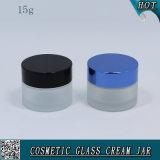 vaso di vetro vuoto cosmetico glassato oncia della crema di fronte di 15g 1/2