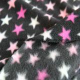 プリント星デザインのマイクロ羊毛