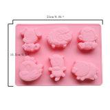 Molde material de la torta del silicón de la categoría alimenticia del certificado del nuevo producto FDA, molde Shaped animal de la torta del silicón