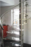 Escalera de madera interior de encargo/escalera de acero/escalera espiral