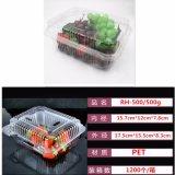 Diseño de embalaje ideal de plástico transparente caja de contenedores de frutas para mascotas