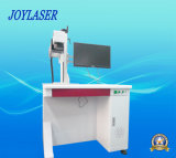 Metal/máquina plástica/de aluminio de la marca del laser de la fibra de la caja del teléfono