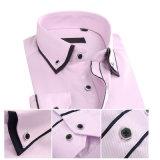 Camisas largas rosadas de Oxford de las fundas de la alineada formal del color de los hombres