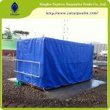 голубой брезент ткани с покрытием PVC цвета 610GSM для крышек трейлера