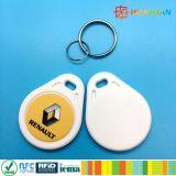 Tag clássico Offset do keychain do keyfob do logotipo MIFARE 1K RFID da impressão