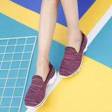 Las más nuevas mujeres que el Slip-on Flyknit se divierte los zapatos ocasionales al por mayor modifican para requisitos particulares (MB7093)