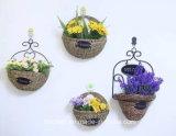 (BC-SF1008) respetuoso del medio ambiente natural hecho a mano de paja cesta de la flor