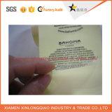 Напечатанный бумагой стикер печатание ярлыка стикера этикеты принтера ясно прозрачный
