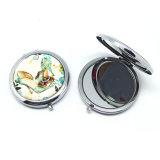 Decorazione dello specchio compatto cosmetico Pocket piegante del metallo bello